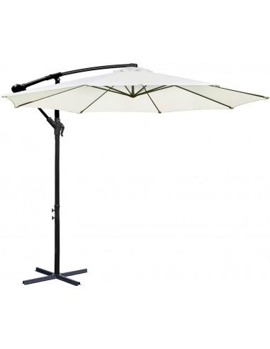Novonova Parasol de Jardin Ø350cm H*L 400 × 260 cm Protection Solaire UV50+ PS835-BE
