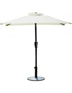 Novonova Parasol de Jardin 150 × 210 cm Protection Solaire UV50+ Parasol de Balcon carré, Réglable en Hauteur SY-PS416 (Beige)