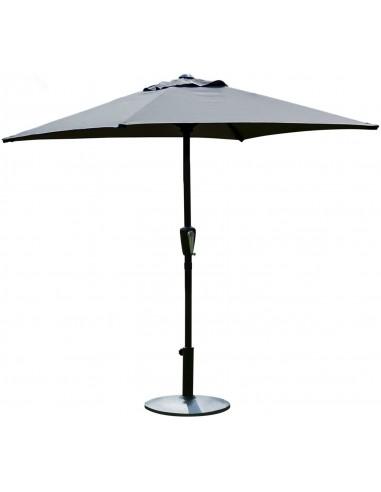 Novonova Parasol de Jardin 150 × 210 cm Protection Solaire UV50+ Parasol de Balcon carré, Réglable en Hauteur SY-PS416 (Gris)
