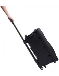 "Novonova Enceinte Sono Portable 15""/38cm 900W LED RVB, Haut parleur avec Micro Sans Fil & Micro Fil, Support Lecteur MP3/WMA"