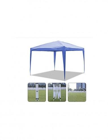 Novonova 3x3m Tonnelle de Jardin Tente Réception Pavillon Aluminium Pliable ZP3001BL